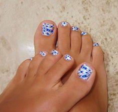 Blue toe nail art best 30 really cute toe nails for summer pretty designs Simple Toe Nails, Pretty Toe Nails, Cute Toe Nails, Cute Toes, Pretty Toes, Toe Nail Art, Pretty Pedicures, Beautiful Toes, Nail Nail