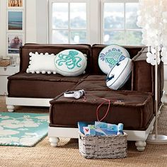 PB Teen Cushy Lounge Collection. I dream of setting this up for reading with the : pb teen sectional - Sectionals, Sofas & Couches