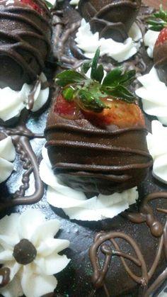 Fresas cubierta de chocolate