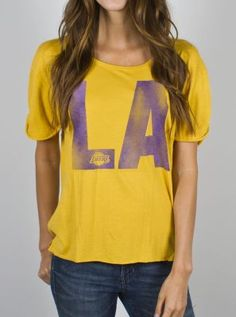 NBA Los Angeles Lakers Slam Dunk Tee - - Junk Food Clothing