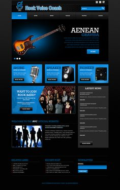 Cool web design for a rock voice coach. #togonondesign #webdesign #creativedesign