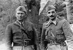 Partisan leader Marshal Josip Broz Tito and General Koča Popović, Drvar, Yugoslavia, 1943