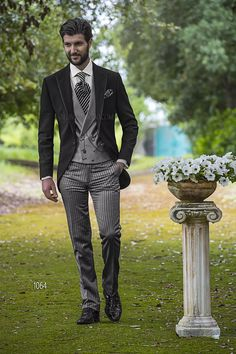 ONGala 1064 - Italian Short Tailed Wedding Suits for groom in Black