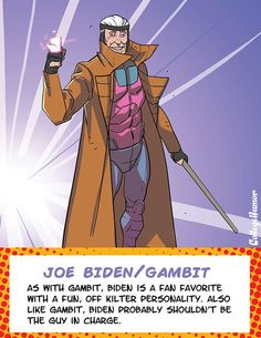 These are stellar. Too accurate as well.   Biden as Gambit