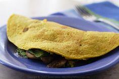 Vegan omelet, simple, tasty