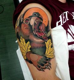 bear old school tattoo - Поиск в Google