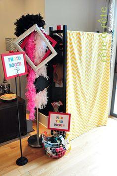 Photo booth set up idea