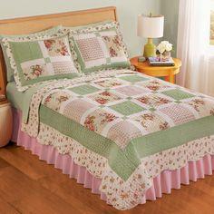 Floral Border Patchwork Quilt