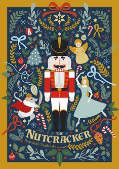 The Nutcracker poster design by Vesna Skornsek. The Nutcracker poster design by Vesna Skornsek. Christmas Design, Christmas Art, Christmas Posters, White Christmas, Christmas Cookies, Xmas, Christmas Graphics, Magical Christmas, Beautiful Christmas