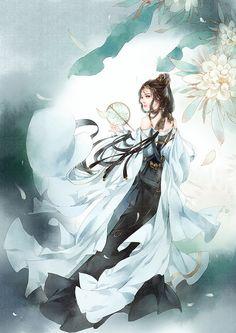 沧海间-阿镜镜_原创,古风,剑三_涂鸦王国插画