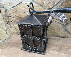Hand forged home decor, wedding decor, metal/iron gifts by ForgedCommodities Steampunk Home Decor, Steampunk House, Metal Furniture, Unique Furniture, Blacksmith Shop, Metal Shop, Rustic Doors, How To Make Light, Light Fittings
