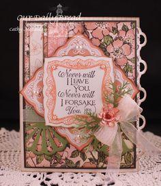 ODBDSLC150 Scripture or Hymns, Stamps - Romantic Floral Designs, Scripture Collection 10, ODBD Quatrefoil Pattern Die