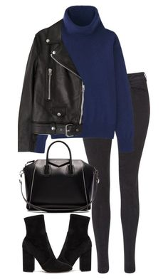 leather jacket outfit A fashion look from October 2016 by elenaday featuring Uniqlo, Acne Studios, Maison Scotch, Valentino and Givenchy Mode Outfits, Chic Outfits, Trendy Outfits, Fashion Outfits, Fall Winter Outfits, Autumn Winter Fashion, Mode Ootd, Leather Jacket Outfits, Look Boho