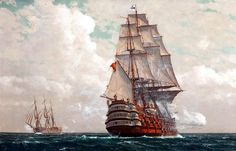 "Spain's Nuestra Señora de La Santísima Trinidad (Our Lady of the Holy Trinity), the most powerful vessel of the ""classic"" Age of Sail, armed with 140 guns in 4 decks after 1802"