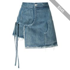 Sandy Liang denim wrap skirt