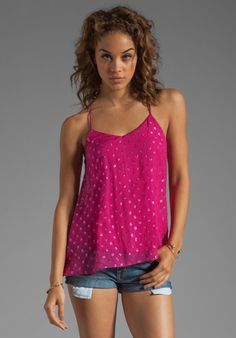 ELLA MOSS Lucie Sparkle Dot Tank in Punch