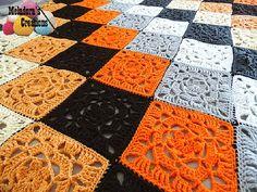 Lacy Flower Crocheted Granny Square Web Photo WM 600