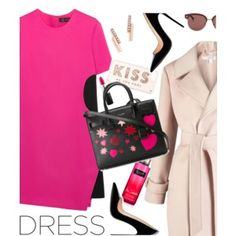 On trend two tone dress