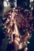 love the flowers, ignore the naked woman!