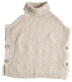 Gå efteråret i møde med en poncho-bluse i let garn.