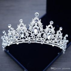 Wedding Hair Flowers, Bling Wedding, Wedding Tiaras, Wedding Crowns, Crystal Wedding, Hair Wedding, Wedding Beauty, Masquerade Wedding, Wedding Dress