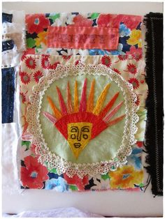 Prayer flag project Fabric Bunting, Fabric Art, Buntings, Peace Flag, Buddhist Traditions, Prayer Flags, Prayer Book, Small Quilts, Hippie Man