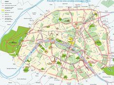 Mapa Monumentos de Paris.
