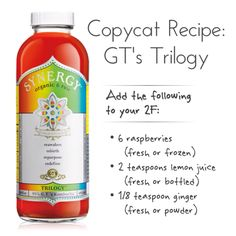 Copycat Recipe: GT's Trilogy flavor. Flavor idea for your 2F Kombucha Tea