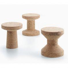 Cork Family Side Table/Stool by Jasper Morrison for Vitra Cork Table, Recycled Wine Corks, Vitra Design, Chair Design, Low Stool, Drink Table, Morrisons, Jasper, Furniture Design