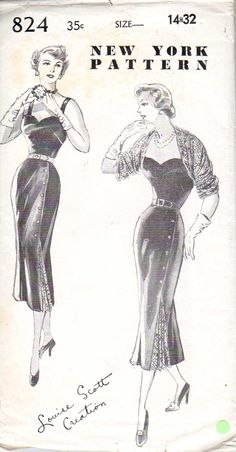 New York Sewing Pattern 824 (1949?)