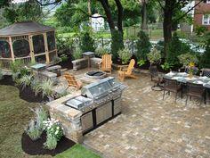 Perfect Backyard Bbq Area Design Ideas Cheap Backyard Bbq Ideas Best Of Cheap Outdoor Kitchen. Small Outdoor Kitchens, Outdoor Kitchen Plans, Backyard Kitchen, Outdoor Kitchen Design, Backyard Bbq, Outdoor Rooms, Backyard Landscaping, Outdoor Living, Outdoor Decor