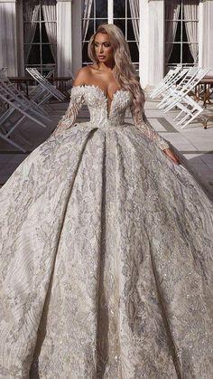 Fancy Wedding Dresses, Evening Dresses For Weddings, Princess Wedding Dresses, Bridal Dresses, Wedding Gowns, Wedding Bride, Lace Wedding, Mermaid Wedding, Luxury Wedding Dress