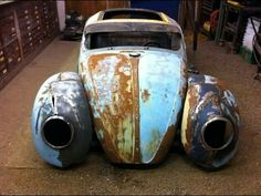 Uber cool Volksrod work in progress. Beetle Bug, Vw Beetles, Vw Rat Rod, Rat Rods, Vw Bus, Vw Beach, Vw Vintage, Hot Rod Trucks, Buggy
