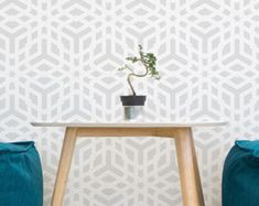 Flower Of The Life II Decorative wall stencil for by StenCilit