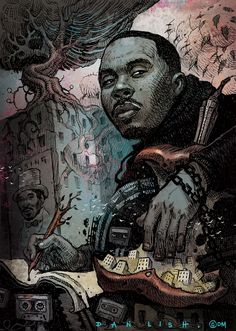 NAS by Dan Lish Part of the Ego Strip series… Nas Hip Hop, Arte Hip Hop, Hip Hop Rap, Classic Hip Hop Albums, Hip Hop Lyrics, Music Lyrics, Art Of Dan, Hip Hop Classics, Systems Art