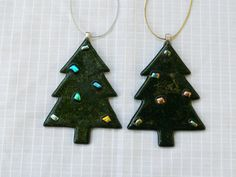 Unique Handcrafted Fused Glass Xmas Decoration by LAZFusedGlass,