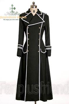Elegant Gothic Military Double Breasted Long Coat