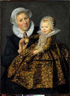 Catharina Hooft avec sa nourrice, vers 1619-1620, par Frans Hals, l'Ancien (1581/1585-1666).