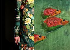 catwalk inspiration print fish orange catchii design catchii.com illustration