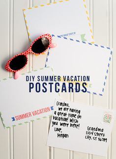 summer vacation printable postcards