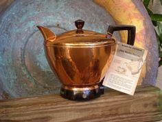 Vintage Copper Electric  Teapot  //  FunkAndMore by FunkAndMore, $85.00