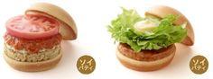 """モスの肉ナシ""""ソイパティ""""が定番商品に--バーガー8種でパティが変更できる バーガー8種で「ソイパティ」が選べるように  (画像左:ソイパティ モスバーガー/右:ソイパティ テリヤキバーガー)"""
