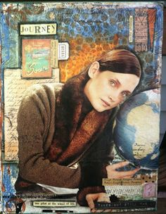 """Altered Schoolmarm: Altered Book Pages - """"Journey"""""""