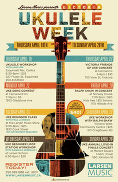 Today marks the start of one of our favourite times of the year…Victoria Ukulele Week!  Featuring a ton of concerts, contests and workshops. this year's event is so jam-packed that the week had to stretched into a full ten days!