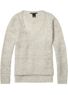 Maison Scotch Sweater creme 102226 Super Soft Pullover - stone melange – Acorns