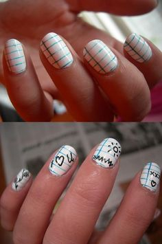 Notepad Nails! You write on them with a washable nail art pen, and you can write and erase as many messages as you need to. No need for Post-Its anymore!