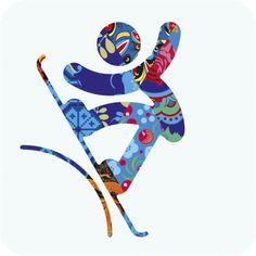 Les pictogrammes des jeux olympique d'hiver 2014 de Sochi