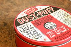 Vintage Dust Puff Advertising Tin $60