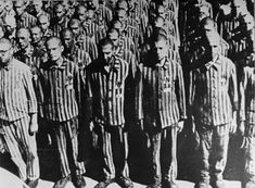 Photograph of Dutch Jews at Roll Call in the Buchenwald Concentration Camp