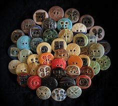 Ceramic Buttons: Choir by la_v_i_k_a, via Flickr